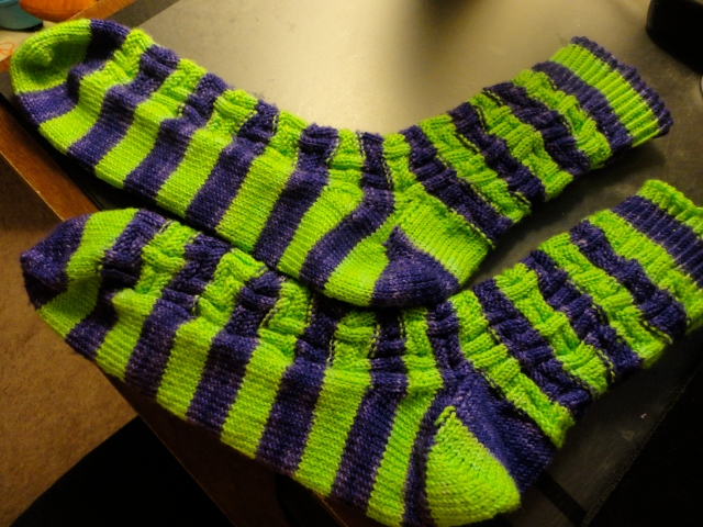 Someday there will be a better picture of these socks. Today is not that day.