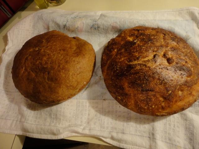 Left: Evil Whole Wheat Devil Bread            Right: Delicious Angelic Bread